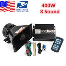 Universal Car Alarm Police Fire Warning 400W 8 Sound Horn Speaker PA MIC System