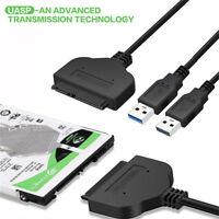 Nouveau USB 3.0 à SATA 22Pin Câble de convertisseur d'adaptateur de disque dur