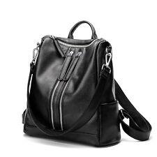 Women Genuine Leather Backpack bags Casual Black School Bags For Teenagers Girls