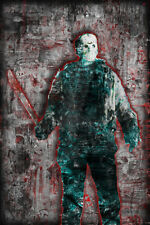JASON VOORHEES FRIDAY THE 13th Poster, Halloween Horror Print 12x18in Free Ship