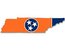 2x7 inch ORANGE Tennessee Shaped TN Sticker - decal volunteer state football vol