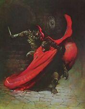 MAN APE Frank Frazetta Vintage Art 1974 Fantasy Science Fiction Red Cape Savage