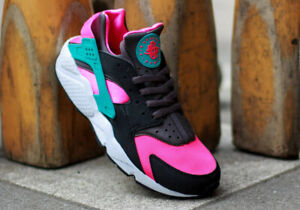** Nike Air Huarache Hyper pink Cactus Trainers uk size 9 EU 10 EUR 44 *
