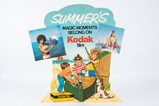 Kodak Film Summer's Magic Moments Cardboard Stand Up Camera Store Sign V10