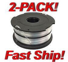 2x Genuine Black & Decker Dual-Line Replacement Spool DF-065-BKP - In Orange bag