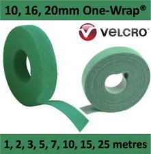 GREEN Genuine Velcro® Brand ONE WRAP® 10 16 & 20mm Strap Hook Loop Tie Garden