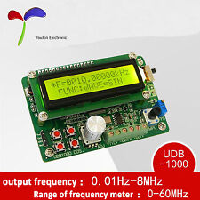 single channel DDS signal source function generator 5MHz frequency counter OZ