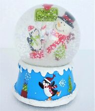 Musical Snow Globe Christmas Snowman Penguins Merry Christmas Plays Jingle Bells