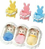 Sylvanian Families EPOCH SE-204 Chocolate Rabbit Dolls Set JAPAN IMPORT