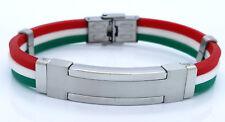 BRACELET WRISTBAND STAINLESS STEEL ITALIAN FLAG JEWELLERY BRACELET 01
