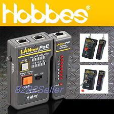 Hobbes 256551p Lantest Poe Cable Tester Lan Cable Rj45rj11 12 Bnc Coaxial Test