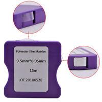 15M/Roll Polyester Film Matrix Band Teeth 9.5mm/0.05mm Matrix Strips Roll Dental