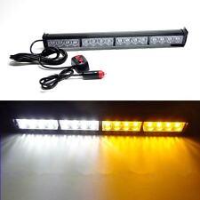 16 LED Car Vehicle Emergency Flash Warning Light Police Strobe Lamp Amber White