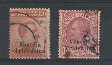 FRANCOBOLLI - 1918 REGNO TERRE REDENTE TRENTINO ALTO ADIGE 2 VALORI USATI B/7550