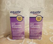 Equate Hair Regrowth Treatment for Women Minoxidil 2%; 2- 2oz. Boxes; NEW