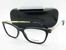 NEW Coach Eye Glasses Frame Rx HC6107 5486 54mm Black Gold Cateye AUTHENTIC 6107