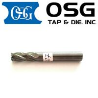 OSG Solid Carbide End Mill 8mm Shank Dia 8MM TiAIN Coat 4-Flute 67