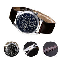 Date Fashion Men's Watch New Military Analog Watch Date Faux Leather Luxury