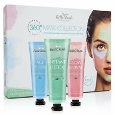 Belle Azul 360 Mask Collection - 3 Piece Face Mask Kit with Shea Butter