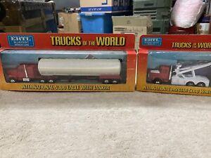 ertl trucks of the world IH tow trk and 4300 tanker