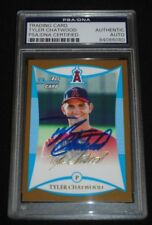 2008 Bowman Gold Tyler Chatwood Signed Rookie Card Autograph RC Auto PSA/DNA