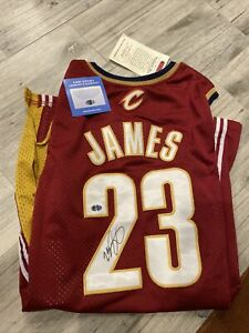 Lebron James Signed Autographed Lakers Mitchell Ness Swingman Jersey with COA