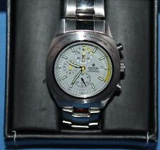 Mint Condition Croton Chronomaster Quartz Chronograph Stainless Mens Watch