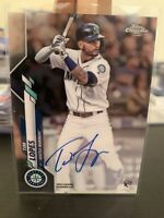 2020 Topps Chrome Tim Lopes On Card Rookie Auto Seattle Mariners RC