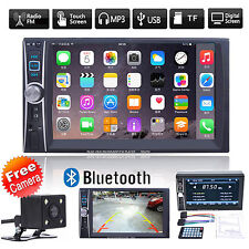 "1*6.6"" Double 2DIN Car MP5 MP3 Player Bluetooth Touch USB FM Stereo Radio+Camera"