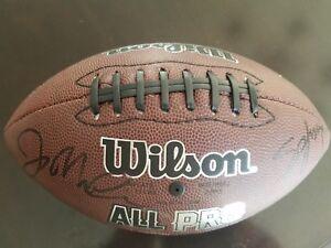 NFL Joe Montana & Steve Young Autographed Football San Francisco SF 49ers Niners