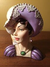 "Cameo Girls Head Vase Judith 1809 ""Lovely In Lavender"" MIB FREE SHIPPING"