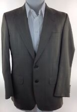 BURBERRY PLAID WOOL 2 BUTTON SPORT COAT BLAZER MENS 44R LINED VENTED MADE IN USA