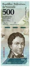 Venezuela UNC Note 500 Bolivares Bs March 2017 P-NEW Prefix B8