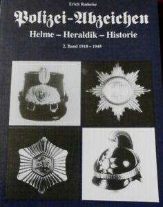 Buch Radecke Polizei Pickelhaube Tschako Mütze Abzeichen
