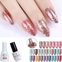 Born Pretty Glitter UV Gel Nail Polish Soak Off Rose Gold Starry Bling 5/10ml