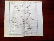 1887 Map Diagram Progress of the Triangulation in Texas TX