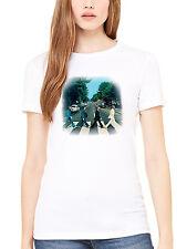 Official The Beatles Abbey Road Women's T-Shirt Lennon McCartney Ringo