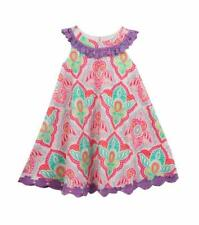 RARE EDITIONS® Little Girl's 5 Damask Print Dress NWT $65