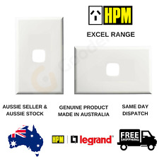 Cover Plate to suit HPM Excel 1 Gang Switch / Dimmer / TV / Data (XLP770/1PLWE)