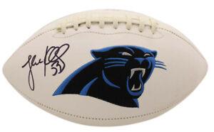 Luke Kuechly Autographed/Signed Carolina Panthers Logo Football BAS 25473