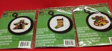 3 Studio 18 Mary & Co Counted Cross Stitch Christmas Ornaments Bell Stocking Dog