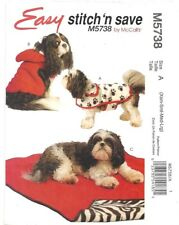 MCCALLS SEWING PATTERN 5738 OOP DOG PET COATS AND MAT  SIZES XS-L