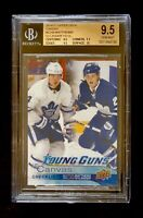 AUSTON MATTHEWS WILLIAM NYLANDER YOUNG GUNS CANVAS CHECKLIST CL BGS 9.5 LEAFS!!!