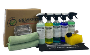 Chrome(NW) Grassmen Green INTERIOR KIT  5 x 500ml Bottles + Cloths  FREE Postage