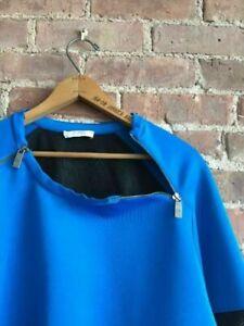 Versace Collection Men's Sweatshirt, Sz XL, Portugal, Blue, Mesh