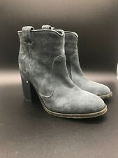 LAURENCE DACADE Pete Ankle BOOTS Womens 38.5 Gray Suede Heel
