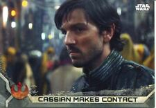 Star Wars Rogue One Series 2 Gray Base Card #7 Cassian Makes Contact