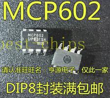 5Pcs MCP602 MCP602-I/P Opamp Dual Sngl Supply 8Dip nw   #K1995