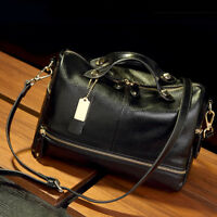 Women Leather Handbag Shoulder Purse Pilliow Shape Satchel Crossbody Tote Bag QP