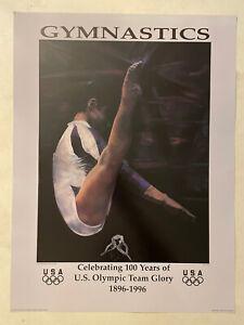 Olympic USA Gymnastics 1996 Poster Celebrates 100 Years